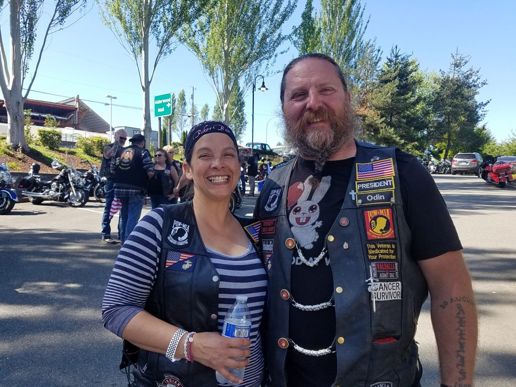 Lynnwood Times photo by Mario Lotmore. David Roth and his wife Gemini Roth at the Xtreme Couture Poker Run on June 15