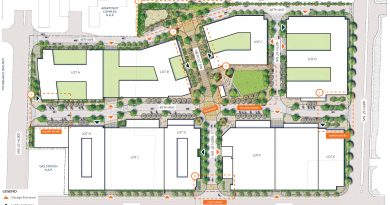 Photo courtesy of Merlone Geier Partners. Proposed siteplan of Northline Village.