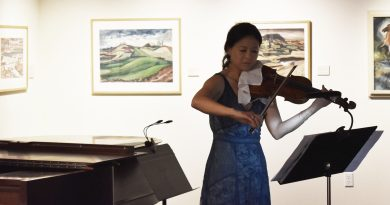 Lynnwood Times photo by Luke Putvin. Pamela Liu performing at Cascadia Art Museum on July 20.