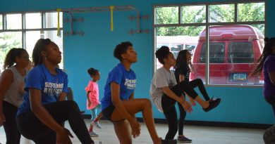 Lynnwood Times photo by Luke Putvin. Northside Step Team tryouts at Dale Turner YMCA in Shoreline on August 2.