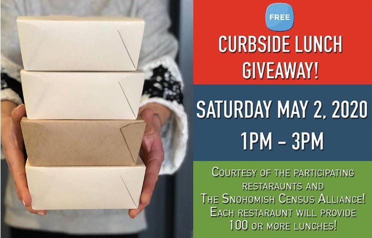 Curbside free lunch giveaway on May 2nd