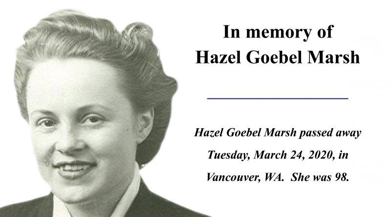 Hazel Goebel Marsh