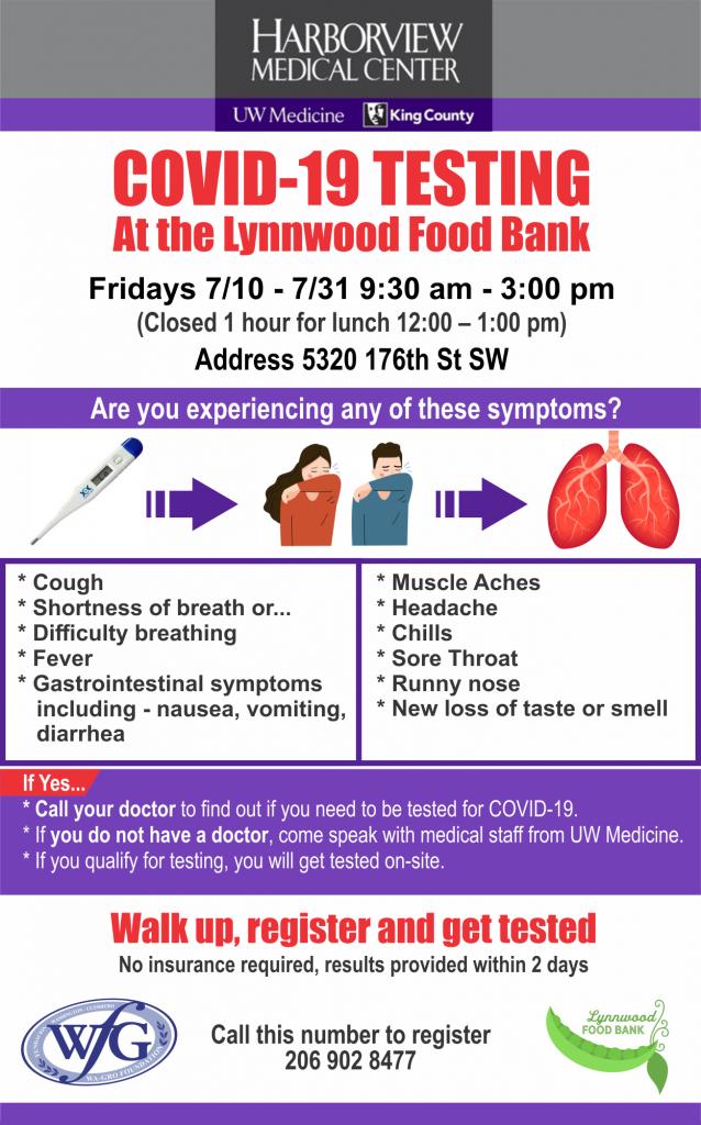 Free covid-19 testing lynnwood
