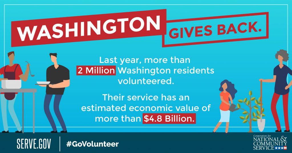 Washington volunteer week