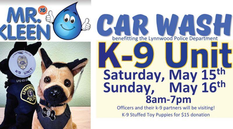 Mr. Kleen's car wash fundraiser for Lynnwood Police K-9 Unit
