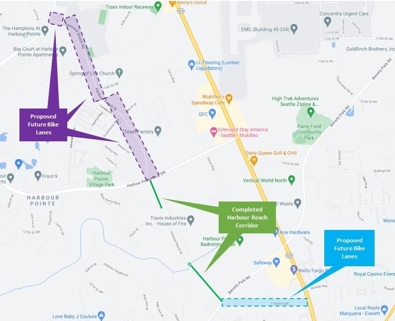 Proposed extensions of Harbour Reach Corridor