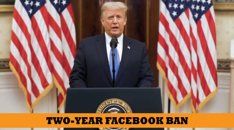 Facebook suspend Trump