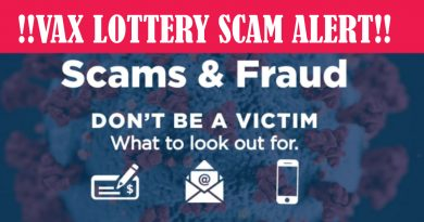 VACCINE LOTTERY SCAMS