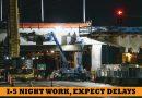 Night work to affect I-5  overnight traffic