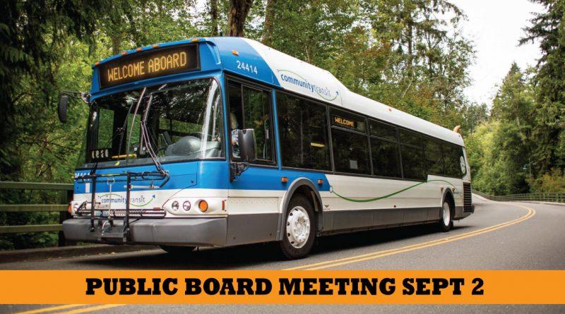 Community transit board meeting