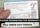 Mill Creek votes against resolution prohibiting vax mandate for city employees